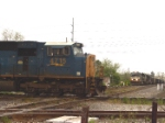 CSX 4715 is first come, first served as it crosses the double diamond