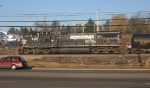 NS 9325 rolling along side S. Main St.