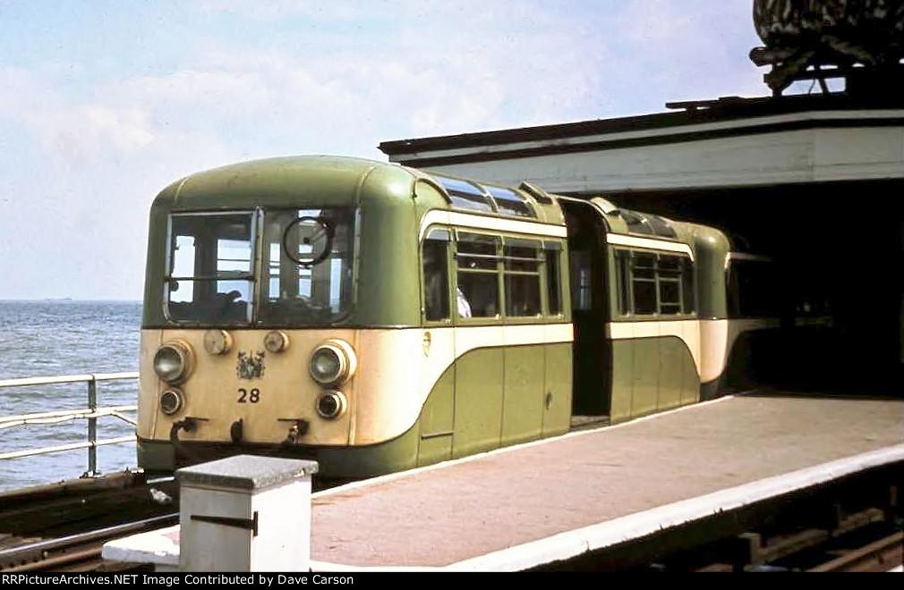 1949 built AC Cars Driving Motor 28 part of the famous Southend Pier electric trains until 1978
