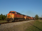 BNSF 5638 leads a couple of the GEVO's