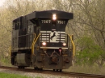 Rare to see NS 7507 running long hood forward