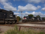 NS 7130 and NS 2748 has a running meet with a forward observer at the diamond