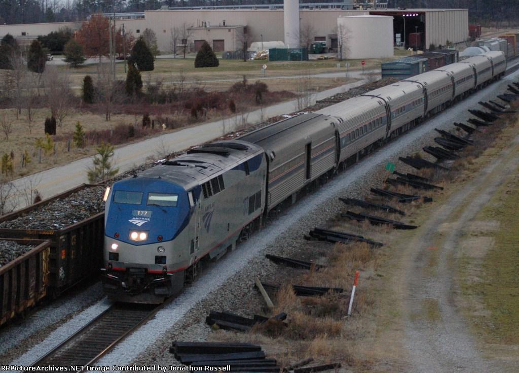 AMTK 177 leads Amtrak-P079 the Carolinian