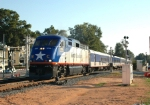 NC 1755 leads Amtrak-74