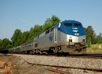 AMTK 11 leads Amtrak-80(nb Carolinian)