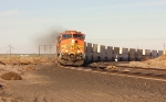 BNSF 5276 doing about 60mph heading West.