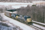 CSX 8627 and 8580 are west bound on the Keystone sub,