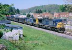 CSX 212 213 powers a loaded coal train,