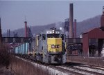 CSX 6423 & 2310 with a north bound Coke train on the ex-P&LE,