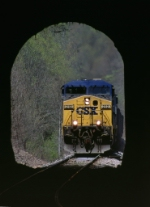CSX 212 & 213 are about to enter the tunnel at Winding Gulf Juction,