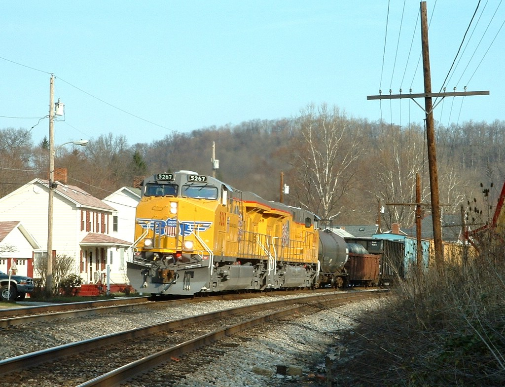 UP 5267 & 5268 is east bound at mp294, Keystone sub,