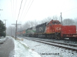 IC 6265  is trailing on CSX Q388 Thanksgiving day,