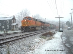 BNSF 5180, CSX Q388 is E/B at MP294 Keystone sub on Thanksgiving day,