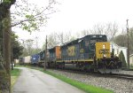 CSX 4000 & 4735 with Q165 on the CSX Pittsburgh sub, and mp294.5,