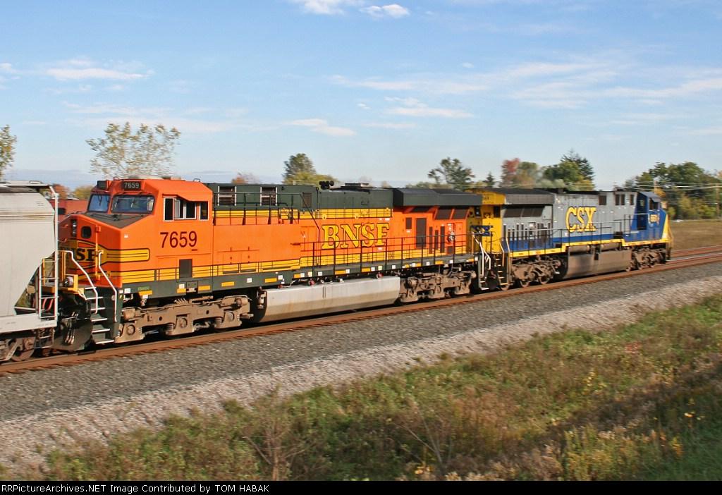 BNSF 7659 on CSX Q380-24