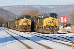 Three coal drags waiting their turn to head east