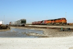 BNSF 5055, BNSF 4322, and FXE 4641