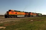 BNSF 4918, 1120, and 3001