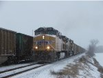 UP 6066 at Bixby, in the snow.....