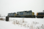 CSX 1518 & 1504 are laying over on the Porter Branch