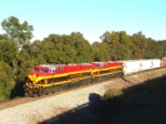"KCS 4719 leads the ""Taco Bell express"""