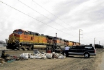 BNSF 4907 With Dedicated Railfan