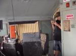Inside 181's cab