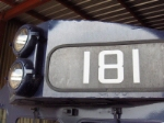 181's numberboard and headlight
