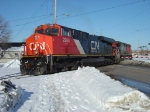 CN GE pair heading back towards NGB yard