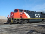 CN 2249 leads A411 into the yard