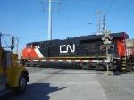 CN 2249 on N. Broadway crossing