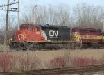 CN 5335 departs northbound