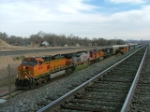 BNSF 5285 north at Pueblo Co w/ 3 including NS 9849