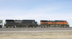 BNSF 1030 and NS 8762