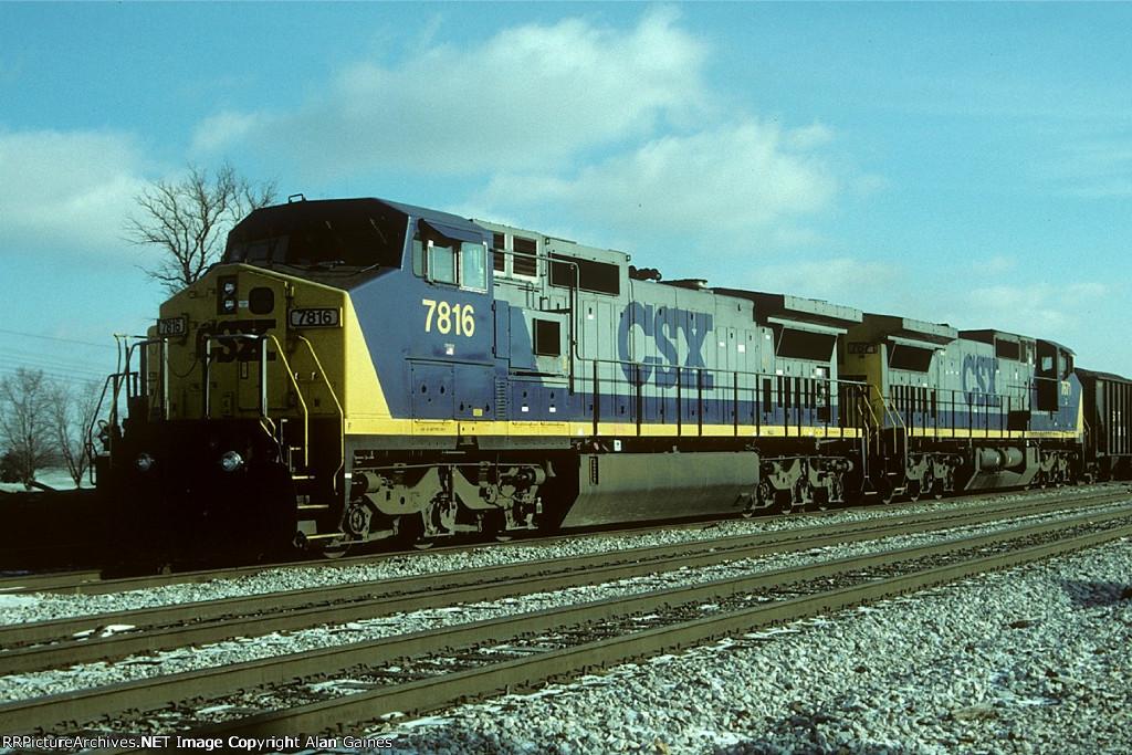 CSX C40-8W 7816
