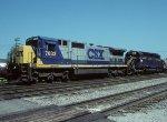 CSX C40-8 7633