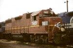 CSX C40-8W 7657