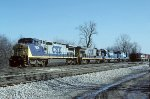 CSX C40-8W 7676