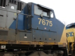 CSX 7675 Cab close up