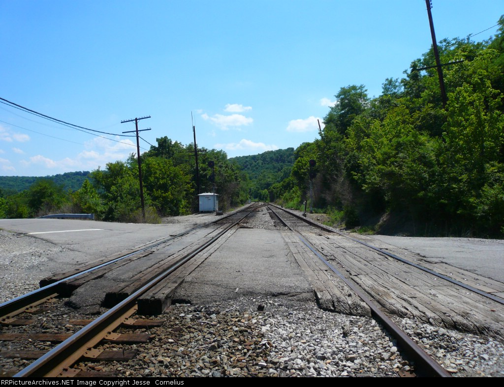 Looking South at the Locust Pike crossing