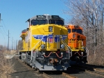 UP 7654 and BNSF 6233