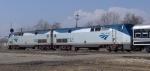 Amtrak 144 & 132 pulling historic passenger cars