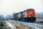 CN M340 rolls through Rockmont.