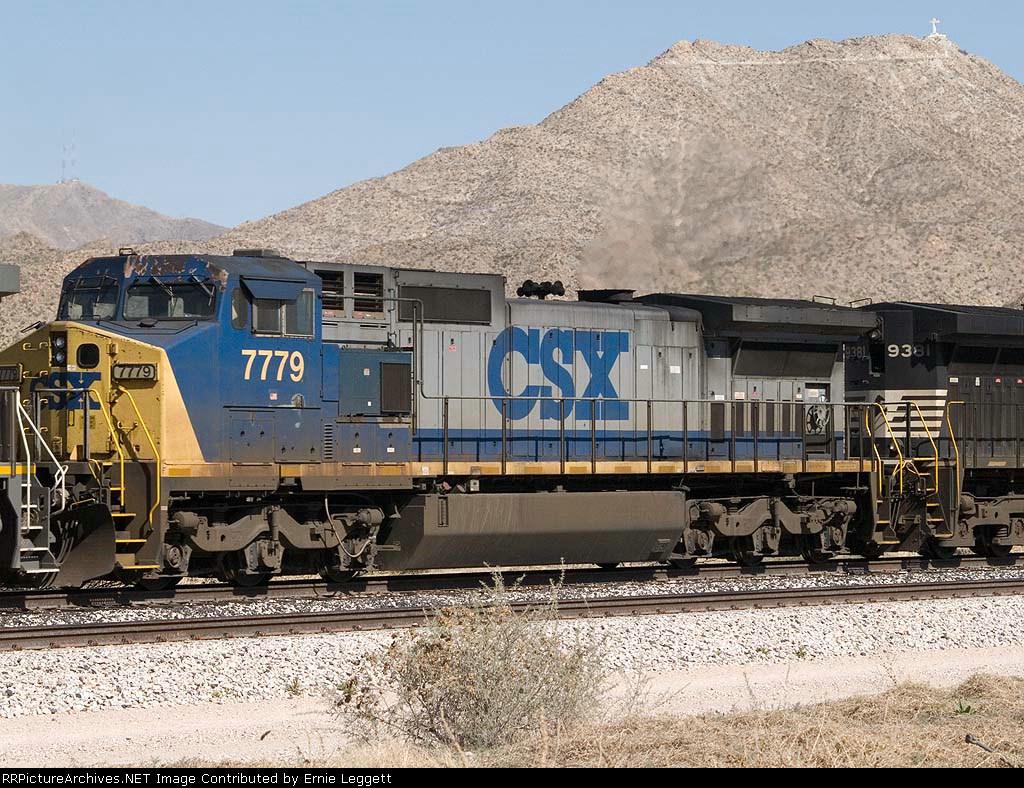 CSX 7779 #2 power in a WB autorack at 2:05pm