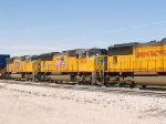 UP 3926 #3 unit in an EB stack at 1:15pm