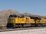 UP 5226 leads a WB stack at 1:20pm