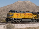 UP 9682 leads a WB autorack at 2:05pm