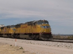 UP 4396 leads an EB autorack at 12:41pm
