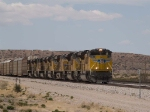 UP 8459 leads an EB autorack/doublestack at 1:48pm