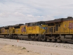 UP 8362 #4 power in an EB autorack/doublestack at 1:48pm